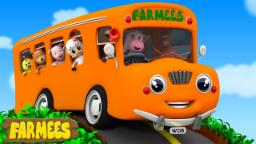 Wheels On The Bus Go Round And Round | Nursery Rhymes Farmees | Baby Rhymes | Kids Songs |