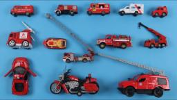 Learn Fire Department Vehicles For Kids Children Babies Toddlers With Fire Engine Ladder Truck
