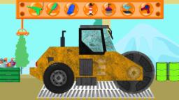 Road Roller |  Car Wash |  Video For Childrens