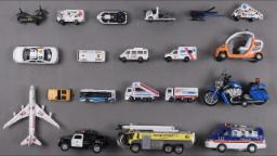 Learn Airport and Police Vehicles For Kids Children Toddlers Babies With Ambulance Plane Police Van