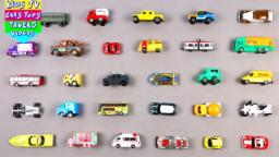 Learn City Vehicles For Kids Children Babies Toddlers With Cars Bus Trucks Ambulance Steam Engine
