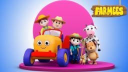 Farmer In The Dell | Nursery Rhymes Farmees | Children Songs | Baby Rhymes | Kids Videos.