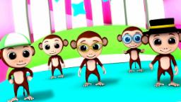 Five Little Monkeys | 3D rhymes | Nursery Rhymes | Songs For Children