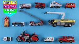 Learn Fire And Airport Vehicles For Kids Babies Children Toddlers With Ladder Truck Fire Engine