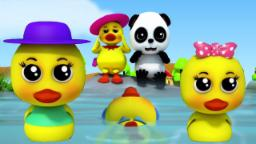 bebé Bao Panda Cinco pequeño patos | niños rimas | 3d Kids Song | Baby Bao Panda | Five Little Ducks