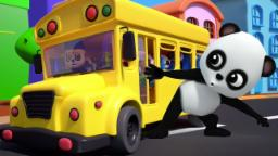 Ruedas en el autobús | De la poesía infantil para los cabritos | autobús canción | Wheels on the Bus