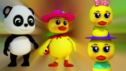 Bao Panda | cinco patitos | niños rima | Five Little Ducks | Nursery Rhyme | Preschool Song For Kids