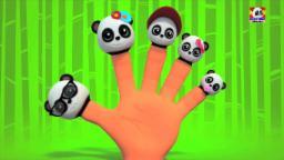 Panda dedo de la familia | 3D Cartoon para los niños | video educativo |Populares la poesía infantil