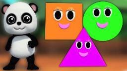 Bao Panda Canción de formas | 3D Video Infantil  | Educational Video | Bao Panda Shapes Song