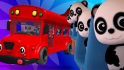 Rodas no ônibus | miúdos rimas | musica infantil | Baby Bao Panda | 3D Kids Song | Wheels On The Bus
