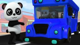 Rodas no ônibus | berçário Rima | Kids Rhymes | Preschool Poem | Baby Bao Panda | Wheels On The Bus