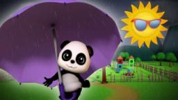 Baby Bao panda | Chuva chuva vá embora | Rima de berçário | Rain Rain Go Away | Kids Rhymes