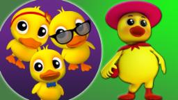 Cinco Patos Pequenos | Rima de berçário | Canção infantil | Kids Nursery Rhyme | Five Little Ducks
