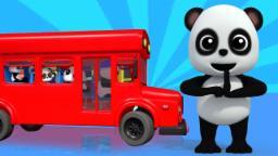 Rodas no ônibus | Canção para crianças | Nursery Rhymes For kid | Baby Bao Panda | Wheels on the Bus