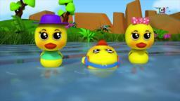 Cinco patos pequenos | rima de berçário | miúdos 3D canção | Five Little Ducks | Bao Panda Song