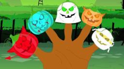 Aterrador calabaza dedo familia | La poesía infantil | Canción cabritos | Pumpkin Finger Family