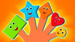 Shapes dedo familia | Cartoon para los niños | Video educativo | la poesía infantil | Finger Family