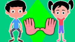 Joelhos Ombro Cabeça e Toes | compilação para crianças | vídeo educativo