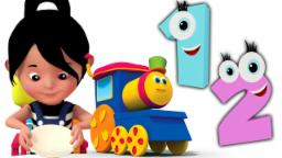 um dois fivela meu sapato | vivero Rimas | Bob The Train | 3D Kids Rhymes | One Two Buckle My Shoe