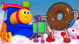 Tren de Bob Carril de chocolate   Canciones para niños   3D Nursery Rhyme   Bob Train Chocolate Lane