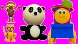 Bob Animal train   3D Cartoon para los niños   compilación   Vídeo educativo   animal del tren