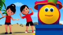 Bob cabeça do comboio Ombros joelhos e pés | 3D Nursery Rhymes Songs | Head Shoulders Knees and Toes