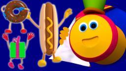 bob Trem Pista de chocolate | Canções Para Crianças | 3D Nursery Rhymes | Bob Train Chocolate Lane
