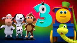 สิบในเตียง | คล้องจองสำหรับเด็กที่ | เด็กบ๊อง | Bob Train | 3D Songs For Children | Ten In The Bed