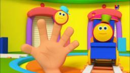 บ๊อบรถไฟนิ้วครอบครัว| 3d เด็กบ๊อง | บทกวีสำหรับเด็ก | Nursery Rhymes Songs | Bob Train Finger Family