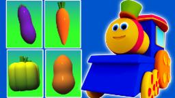 บ๊อบผักรถไฟ | การ์ตูนสำหรับเด็ก | วิดีโอการศึกษา | วิดีโอ 3 มิติ | Bob Vegetable Train
