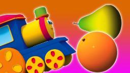 บ๊อบผลไม้รถไฟ | การ์ตูนสำหรับเด็ก | วิดีโอการศึกษา | วิดีโอ 3 มิติ | Bob Fruits Train