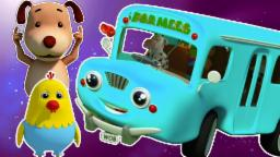 Räder auf dem Bus | Karikatur-3D für Kinder | Beliebte Kinderreim | Wheels on the Bus