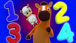 Anzahl Song 1-20 | lernen Zahlen | Zahlen für Kinder | 3D Kinder Video | Number Song 1-20
