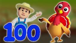 Song Numéro 1-100 | compilation 3D pour les enfants | vidéo éducatif | vidéo Kids | Numbers 1 to 100