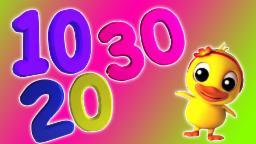 Numéro de morceau 1-30 | Cartoon 3D pour les enfants | vidéo éducatif | Number Song
