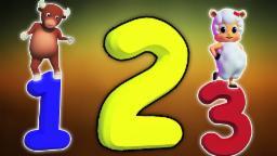 Number Song  1 à 20 | Cartoon 3D pour les enfants | vidéo éducatif | Number Song 1-20