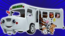 Roues sur l'autobus | Cartoon 3D pour les enfants | pépinière populaire rime | Wheels on the Bus
