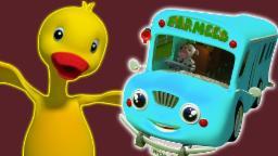 Rouessur le Bus | Cartoon 3D pour les enfants | pépinièrepopulaire rime