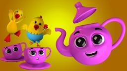 Sono un po 'teiera | bambini rima collezione | canzone bambino | I Am A Little Teapot | Kids Song