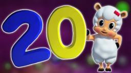 Numero canzone 1-20 | 3D numeri Per Bambine | Imparare 123 | apprendimento Video | Numbers Song