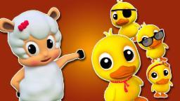 Cinque piccole anatre | Compilazione per i bambini | 3D Animazione | Filastrocca | Five Little Ducks