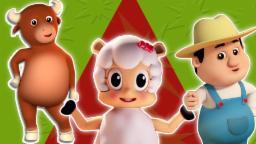 Chubby Cheeks Dimple mento | compilazione 3D per i bambini | rima famosa vivaio