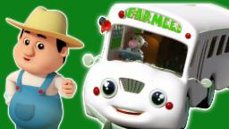 Le ruote del bus | Fumetto 3D per i bambini | rima popolare vivaio