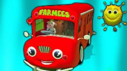ruote sopra il autobus | filastrocche in italiano |  Wheels on the Bus | Farmees