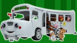 Rodas no ônibus |3D Cartoon for crianças | vídeo educativo | berçário do Rima |  Wheels on the Bus