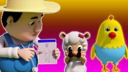 joelhos ombro cabeça e dos pés | Cartoon 3D para crianças | compilação | rima de berçário
