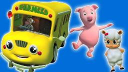 Rodas no ônibus | 3d Compilação | vídeo educativo | Popular berçário do da rima