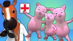 cinco piggies pequenos | berçário das crianças rimas coleção | crianças músicas em português