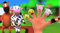 Animais dedos Família | 3D Rima | Rimas para crianças