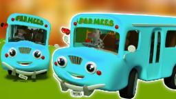 Колеса на автобусе| 3D-сборник для детей | Популярный детский стишок | Wheels on the Bus